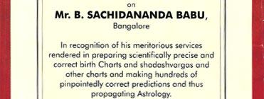 sachidananda babu astrologer consultation fees